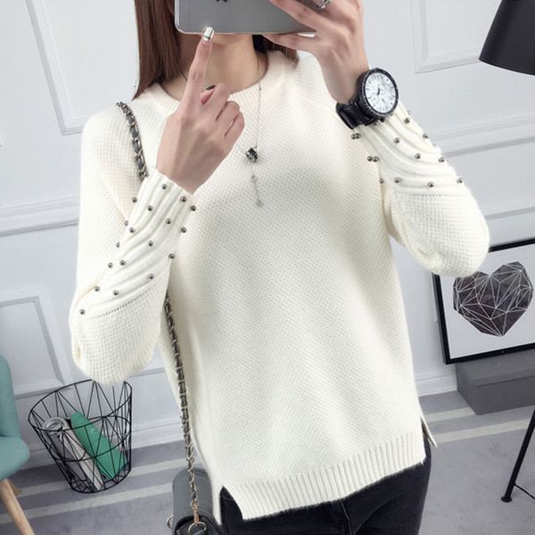 woman sweaters women sweater winter and long sleeved sweater female all match korean students loose new short sleeve head thick shirt