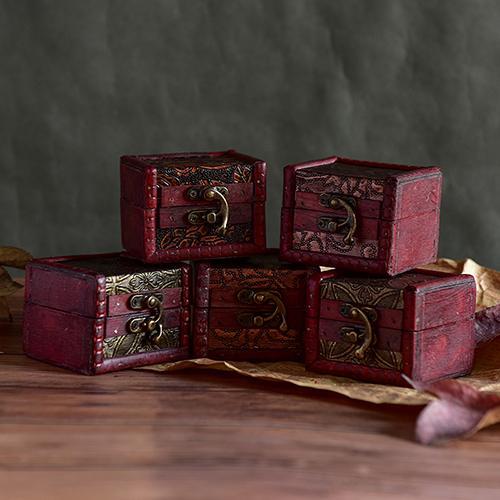 Organisateur Perle Collier Bracelet Boîte De Rangement Cadeau Rétro De Maquillage Organisateur Vintage Boîte En Bois Cas Bijoux