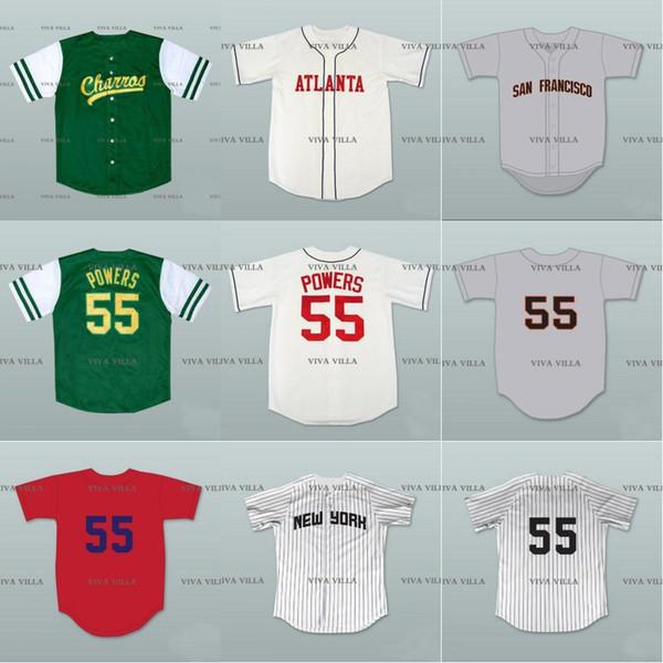 Kenny Powers Beyzbol Forması 55 Eastbound ve Aşağı Meksika Charros Dikişli Erkekler Film Formaları S-4XL Nakliye
