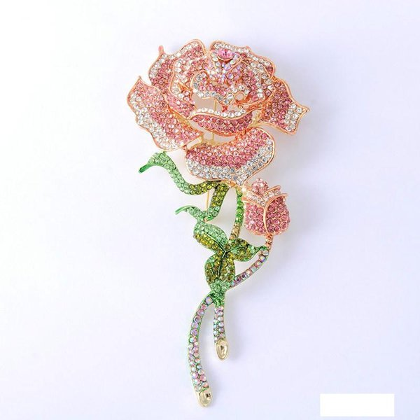 2019 winter new rose high-end brooch winter wear accessories european and american classic fashion jewelry