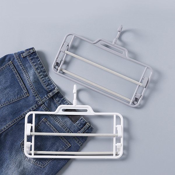 Multi-layer non-slip plastic pants rack magic adjustable wardrobe hanging pants rack scarf storage rack flexible rotation