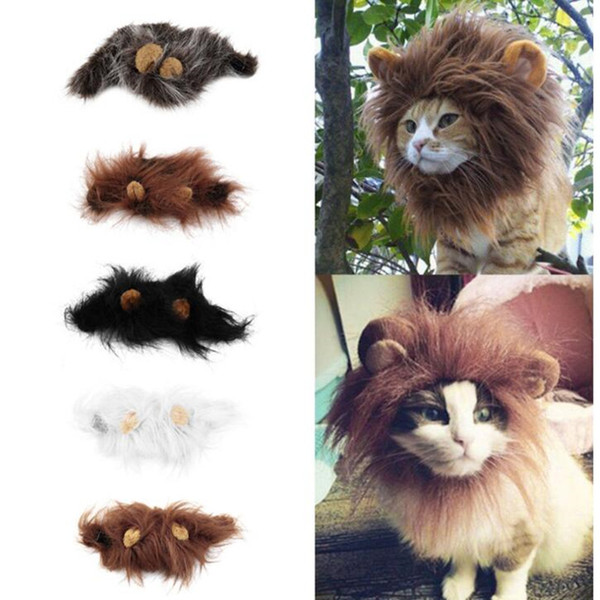 Pet Cat Dog Emulation Lion Hair Mane Ears Dress Up Ropa Traje divertido para Pet Cat Kitten Puppy peluca