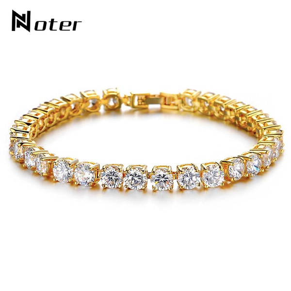 Noter Tennis Bracelets Men Boys Luxury Micro Crystal Braslet Male Hand Jewelry Charm Gold SilverColor Chain Link Braclet Armband