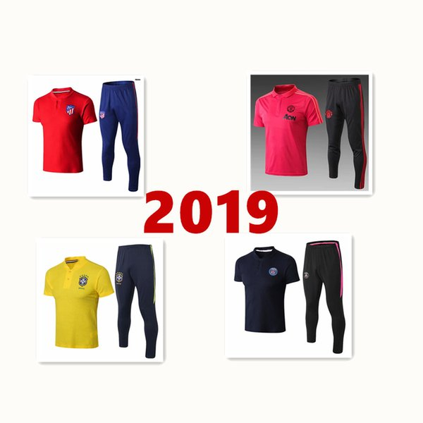 2019 Psg polo shirt long pants 2018 2019 psg aJ soccer Tracksuit paris saint germain MBAPPE chandal futbol air jorDAM jogging kits soccer se