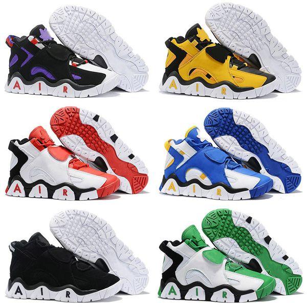 Acheter 2019 New Air Barrage Mid QS Chaussures De Basketball Scottie Pippen Hyper Grape Pourpre Raptors Noir Blanc Jaune Enfants Chaussures Designer