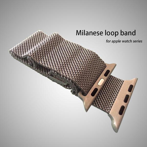 Milanese-Schleifen-Edelstahl-Armband-Bügel mit einzigartigem Magnetverschluss-kompatiblem Armband für iWatch Band geben Verschiffen frei