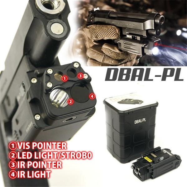Тактический DBAL ИК Красный Лазерный Луч Combo Airsoft LED Фонарик Пейнтбол Охота Стрельба из Пистолета Оружие Света