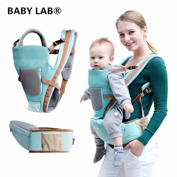 Baby Lab Breathable Multifunctional Breathable Kangaroos Backpack Infant Sling Carrier Hip Seat Baby Carrier For All Seasons Y19052102