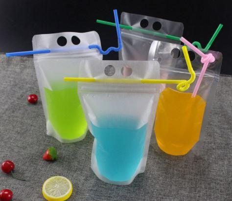 DLM2 Şeffaf Kendinden mühürlü Plastik Içecek Çantası Içecek Süt Kahve Konteyner Içme Meyve Suyu çantası Gıda Saklama Çantası wn594