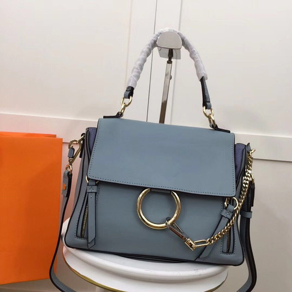 best selling Luxury Suede Chain Handbag Real Leather Circle Ring Shoulder Bags Women Flap Chain Crossbody Bag Designer Handbags Messenger Purse