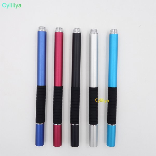 2 in 1 high precision sucker and fiber tip Touch screen Stylus pen flat disc for capacitive screen mobile phone table GPS