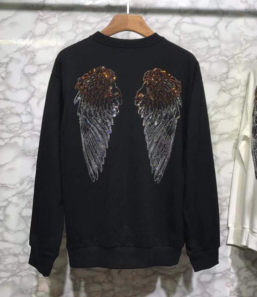 2019 mode Neue Männer Hoodies Sweatshirts Hinter dem kristall Hoodie Hip Hop pullover männlichen langarm Kleidung