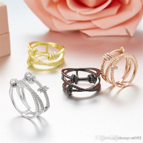 Uphot Европа и Соединенные Штаты большой S925 серебро микро-инкрустированные бисером циркон деятельности круг кольцо