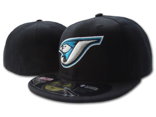 Hot Sale Blue Jays Fitted Hats On Field Baseball Closed Caps In Black Color For Men,Women Fashion Brands Canada Team Sport Men's Fitted H