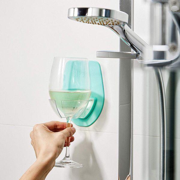 Bar Watt Plastic Wine Glass Holder For The Bath Shower Red Wine Glass Holder