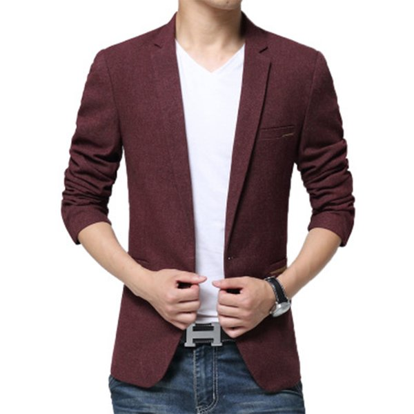 Large Size Men's 2018 Spring and Autumn New Men's Casual Suit Trend Slim Small Suit Jacket Business Groom Dress