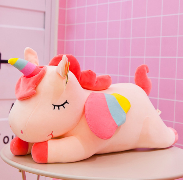 best selling New pink Cotton Rope Unicorn plush toy 40cm stuffed animal Toy Cuddly Plush pillow Doll Baby Kids Cute oversize Toy For Children gifts