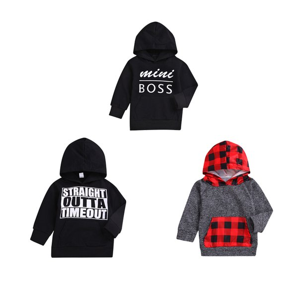 top popular Baby Long Sleeve Sweater Kids Designer Clothes Boys Girls Baby Letter Hoodie Casual Top Cotton Hoodies 19 2019