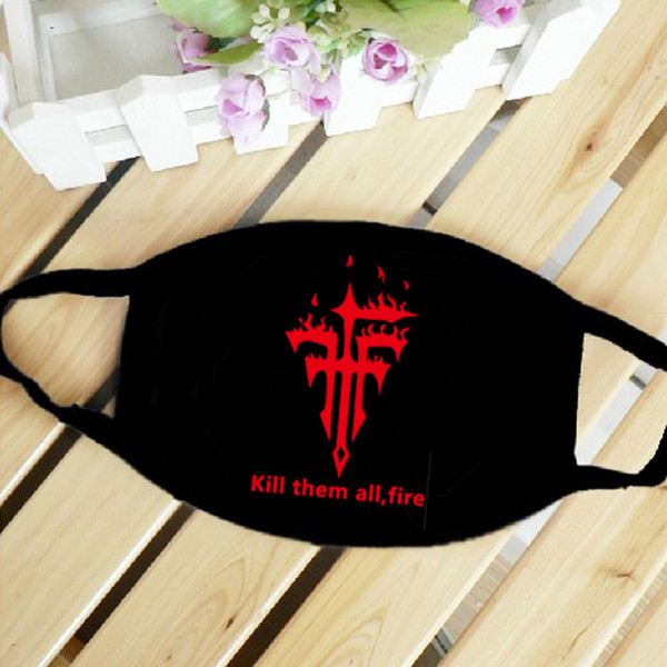 Print Black Mask Breathable Cotton Dust-proof Riding Mask Outdoor Sports Hip Hop Designer Mask Free Shipping