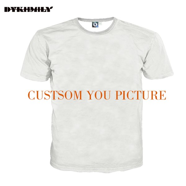 Dykhmily Custom 3d Full Print T-shirt Men O-neck Best Ployester Quality Plus Size 3d Print Customsize Tee Y19042005