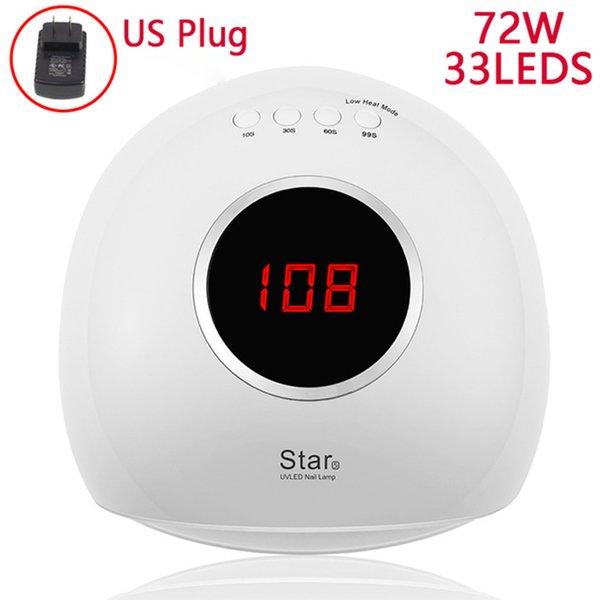 72W White US Plug