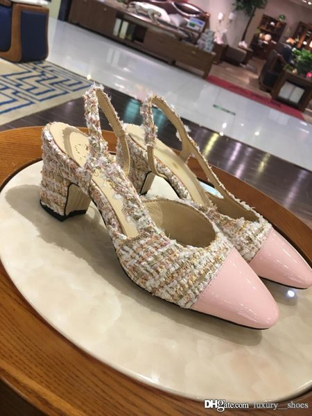 2019 fashion women designer sandals slippers designer flip flops women sandals designer womens high heels shoes size 4.5-8.5 -103