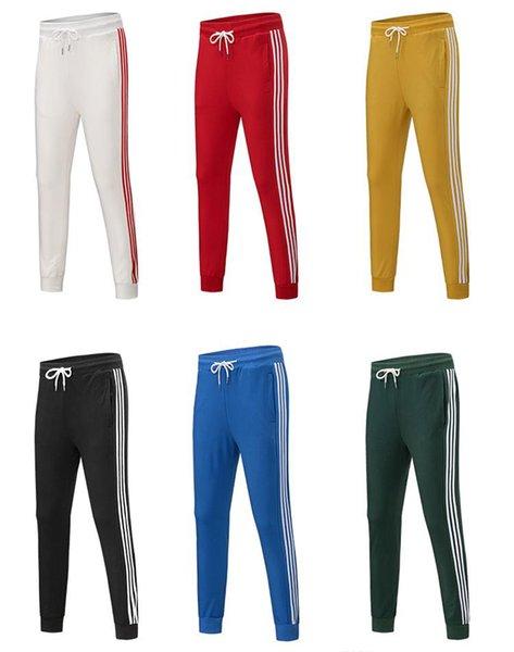 Мужчины женщин Дизайнерские бегуны 7 цветов Мода Марка Sweatpants Stripes Panalled Карандаш Jogger брюки Бесплатная доставка Плюс Размер S - 4XL