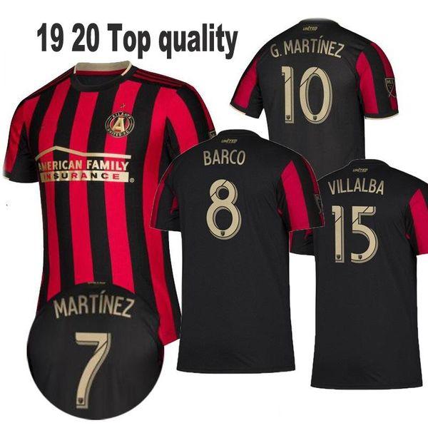 2019 2020 Atlanta United FC Fußballjerseys 10 ALMIRON 16 MCCANN 15 VILLALBA 7 MARTINEZ GARZA Custom Home Rot Weiß Schwarz-Fußball-Hemd