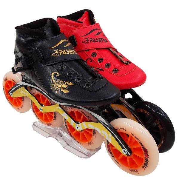 Professional New Speed Skate Shoes Adults/Kids Carbon Fiber Roller Skating Women/Men 4 Wheels Inline Skates Boots