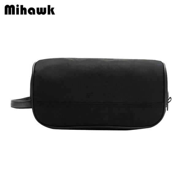Mihawk Black Unisex Toiletry Bag Lipstick Beautician Makeup Storage Wash Pouch Beauty Case Make Up Cosmetic Zipper Tote Supplies