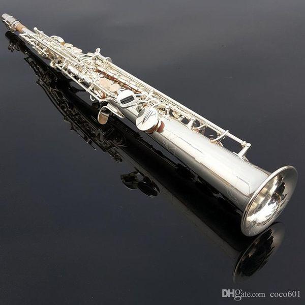 Brand New Yanagisawa Sassofono soprano S-992 B piatto piatto d'argento Sax dritto strumento musicale in ottone con custodia Spedizione gratuita