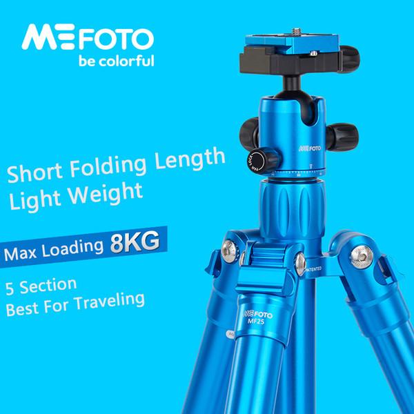 MeFoto MF25 Trépied recourbés monopode selfie Memory Stick Mini trépied portable pour appareil photo avec Rotule 5 Section DHL Livraison gratuite