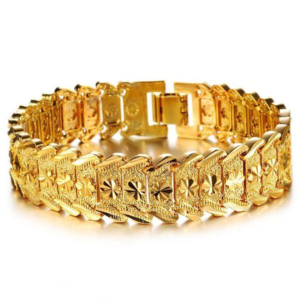 Personality-Charme-Armbänder Gold 18K Weizen Handgelenk Gliederkette Armbänder Luxuxentwerfer Punk-Schmucksachen für Männer Frauen Cuban Armband Zubehör