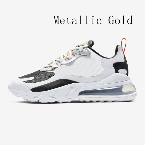 Compre Nike Air Max 270 React Shoes BAUHAUS White Blue React Men Running Shoes OPTICAL Triple Black Mens Trainers Breathable Sports Outdoor Sneakers