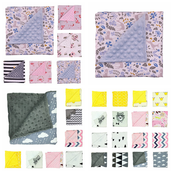 20styles Minky Bubble Dot Blanket Baby Blankets Floral Print Swaddling Newborn Wrap Infant Parisarc Sleepsack Bedding Bathing Towel FFA2721-