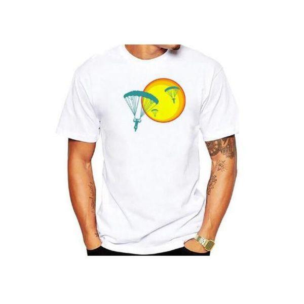 YEMUSEED Nouveaux Hommes T-shirts à Bande Dessinée Imprimés Dessus T-shirt Mode Blanc T-shirts CTS44