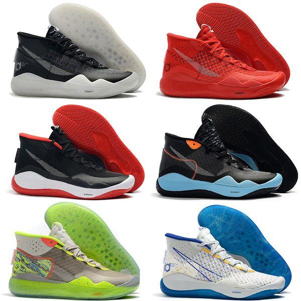 Kalite Mvp Kevin Durant KD 12 11 Yıldönümü Üniversitesi 12 s 11 s Oreo Erkekler Açık Ayakkabı ABD Elite KD12 EYBL Renkli Spor Sneakers