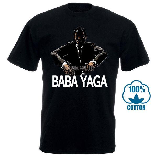 Camiseta de hombre Patrón de personalidad de moda Algodón Baba Yaga John Wick Punk Camiseta divertida Novedad Camiseta Mujer Camiseta de manga corta Shir