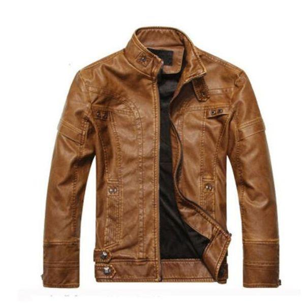 Nouvelle arrivée marque moto en cuir hommes, veste en cuir pour hommes jaqueta de couro masculina, manteaux vestes pour hommes