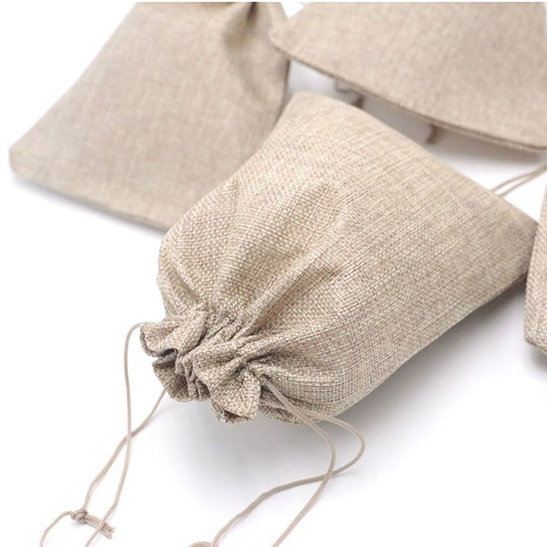 New Jute Bags 50Pcs/Lot 17X23cm Big Linen Pouch With Logo Blue Jewelry Packaging &Display Gift Packaging Display Jewelry