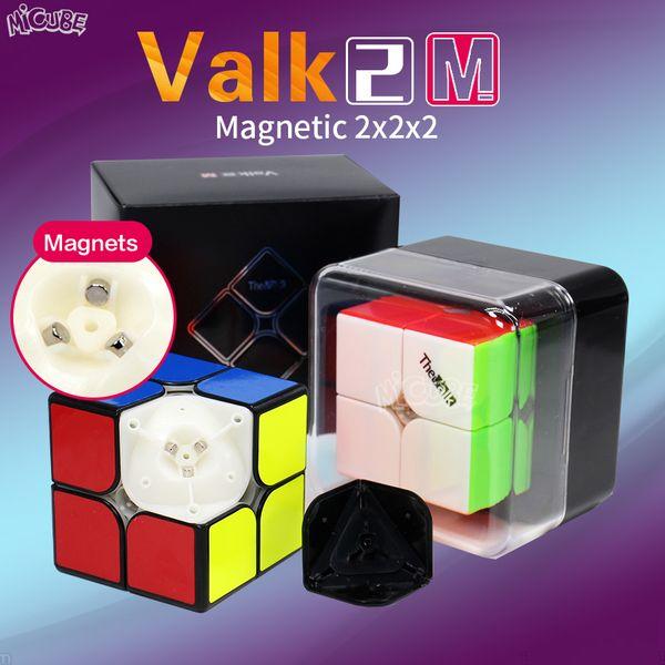 Valk2 M 2x2x2 Velocidade Cubo Magnético Valk2M Magic Cube 2x2 Ímãs O Mofangge Valk Qiyi Cubo Mágico 2 * 2