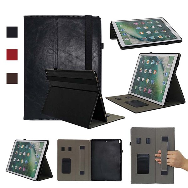 Classic Half Genuine Leather Tablet Shell Case for iPad Pro 12.9 ipad 9.7 2017 cover case Shockproof PU Shell Case