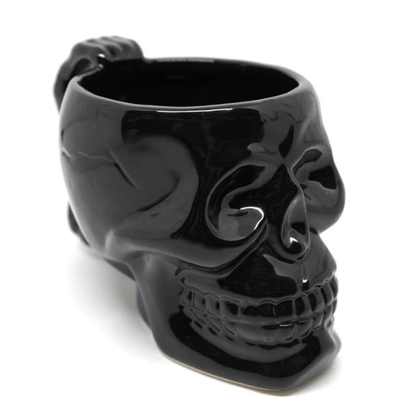 420ml / Copa cráneo creativo de 14 oz Con el sostenedor del punk cabeza fantasma de cerámica taza de cerveza Drinkware de la barra de regalos de Navidad