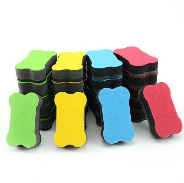 top popular EVA Magnetic Sweeper Blackboard Erasers Colored Bone Shaped Whiteboard Eraser Correction Supplies Office & School Supplies HA537 2021
