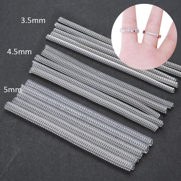 10Pcs Jewellery Tools Transparent Ring Size Adjuster Guard Tightener Reducer Jewelry Resizing Making Ring Tool for Jeweler