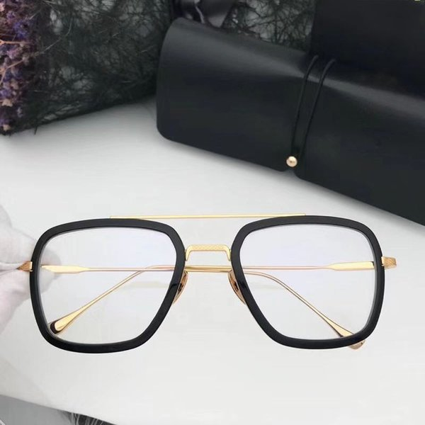black gold with clear lens