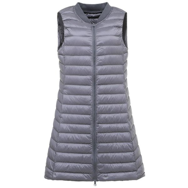 New Spring Autumn Winter Vests Women Thin Ultra Light Down Vest Fashion Female Long Lightweight Down Waistcoat Sleeveless Vest