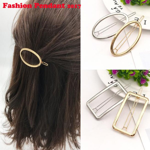 120pcs Hair Clip Fashion oval Hollow Gold Silver Alloy Metal Durable Simple Style Hair Styling Tool Hair Decoration dhl shipping