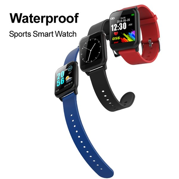 Smart Sports Watch Heart Rate Monitor Blood Pressure Smartwatch IP67 Waterproof Smart Bracelet Wristwatch Bluetooth with iPhone iOS8 Z02