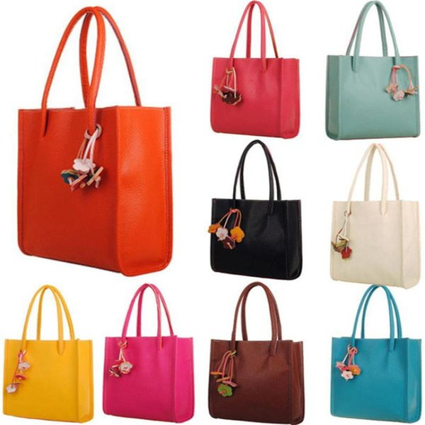 1Girls Candy Color Fiori Borse a tracolla Moda Elegante Borse da donna Borsa a tracolla in pelle da donna Tote Casual Bolso # 5 $